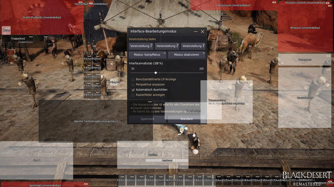 UI ändern in Black Desert Online